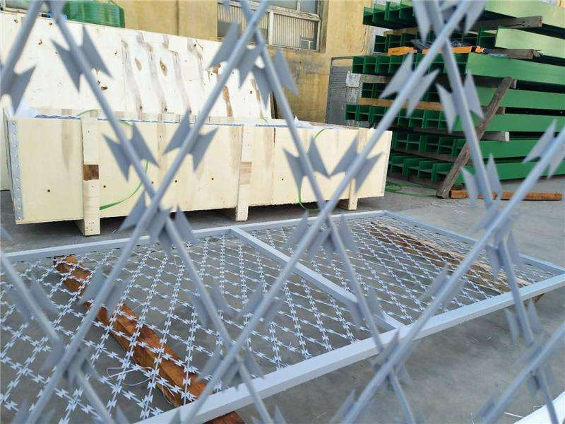Use of Razor Wire and ground protection nets